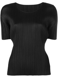Issey Miyake Pleats Please By Micro Pleated Top Black