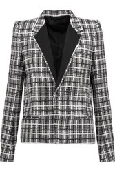 Haider Ackermann Wool Blend Tweed Jacket Black