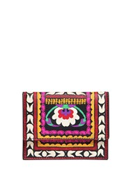 Etro Printed Leather Card Holder