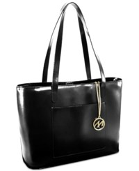 Mcklein Alyson Leather Tote Black
