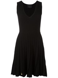 Philipp Plein A Line Knitted Dress Black