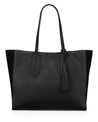 Anne Klein Julia East West Leather Tote Black Gold