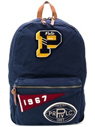 Polo Ralph Lauren Patched Backpack Blue