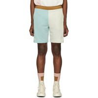Lacoste Blue And Off White Golf Le Fleur Edition Bermuda Shorts