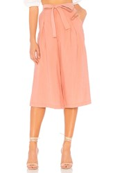 Bcbgeneration Self Belted Culotte In Rose Dawn