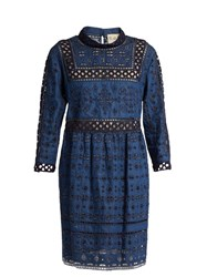 Sea Long Sleeved Lace Popover Dress Indigo