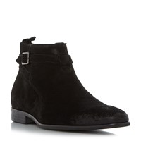 Dune Montana Formal Strap Buckle Boots Black