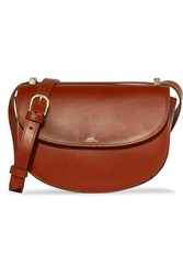 A.P.C. Atelier De Production Et De Creation Geneve Leather Shoulder Bag Brown