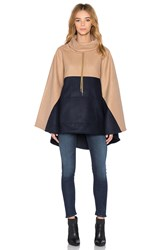 Shades Of Grey Anorak Cape Tan