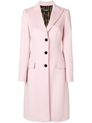Dolce And Gabbana Tailored Single Breasted Coat Pink And Purple