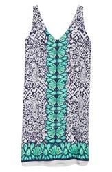 Lilly Pulitzer Florin Sleeveless Shift Dress Bright Navy Pineapple Party