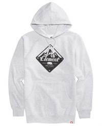 Element Men's Route Logo Pullover Hoodie Grey Heather