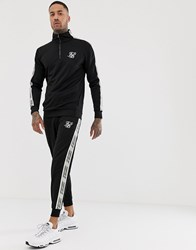 Sik Silk Siksilk Joggers In Black With Side Stripe