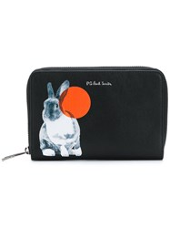 Paul Smith Ps By Bunny Print Wallet Black