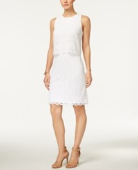 Charter Club Lace Tiered Dress Only At Macy's Bright White