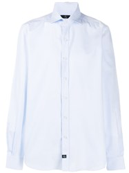 Fay Long Sleeve Fitted Shirt Blue