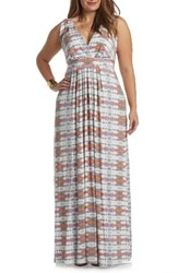 Tart Plus Size Women's Chloe Empire Waist Maxi Dress Dyed Arrow Stripe