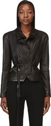 Isabel Marant Black Washed Lambskin Barney Jacket