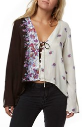 O'neill Charley Floral Print Top Multi Colored