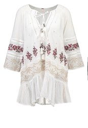 Free People You're Mine Peasant Tunic Ivory Comco White