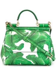 Dolce And Gabbana Medium 'Sicily' Tote Green
