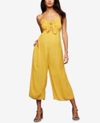 A Pea In The Pod Maternity Wide Leg Jumpsuit Yellow