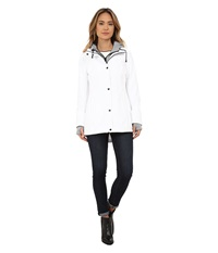 Jessica Simpson Zip Front Soft Shell With Hoodie White Women's Sweatshirt