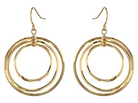Lauren Ralph Lauren Small Round Bevel Ring Gypsy Hoop Earrings Gold Earring