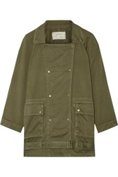 Current Elliott The Infantry Cotton Gabardine Jacket Army Green