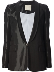 Pinko High Shine Blazer Black