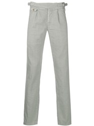 Entre Amis Straight Leg Trousers Grey