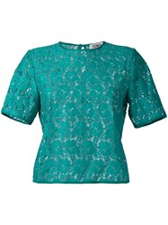 Sonia Rykiel By Embroidered T Shirt Women Cotton Polyamide 36 Green