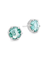 Judith Ripka Spinal Stud Earrings Green