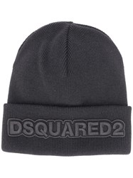 Dsquared2 Embroidered Logo Hat Black