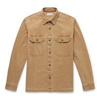 J.Crew Wallace And Barnes Cotton Blend Canvas Shirt Jacket Sand