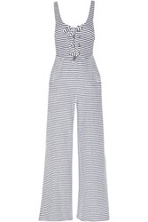 Mara Hoffman Striped Organic Cotton Blend Terry Jumpsuit Navy