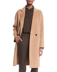 Theory Cerlita Double Face Wool Cashmere Coat Camel