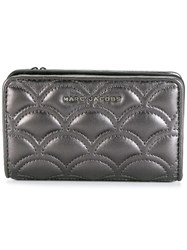 Marc Jacobs Matelasse Compact Wallet Grey