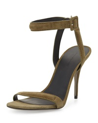 Alexander Wang Antonia Suede Naked Sandal Camouflage Olive