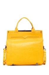 Botkier Gansevoort Leather Large Messenger Yellow