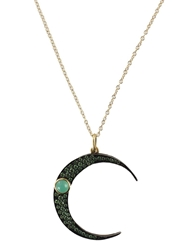 Andrea Fohrman Luna Moon Pendant Necklace Metallic