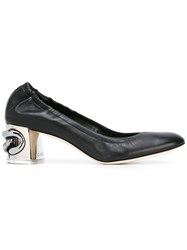 Casadei Metallic Heel Pumps Black