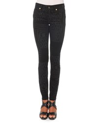 Just Cavalli Laser Patch Leo Print Jeans Black Denim