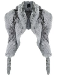 Andrea Bogosian Rabbit Fur Stole Grey