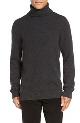 Vince Men's Chunky Wool And Cashmere Turtleneck Sweater Heather Shadow
