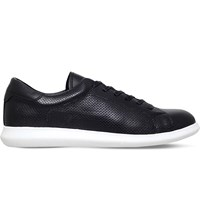 Kg By Kurt Geiger Clinton Leather Low Top Trainers Black