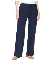 Allen Allen Solid Long Pants Lapis Casual Pants Navy