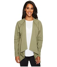 Lucy Light Hearted Wrap Rich Olive Heather Women's Sweater