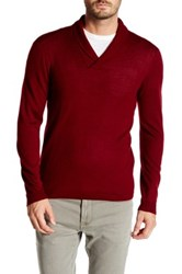 John Varvatos Shawl Collar Knit Pullover Red