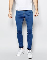 Pull And Bear Pullandbear Super Skinny Jeans In Midwash Blue Blue